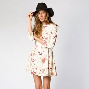 Christy Dawn Floral Open Back Mini Dress